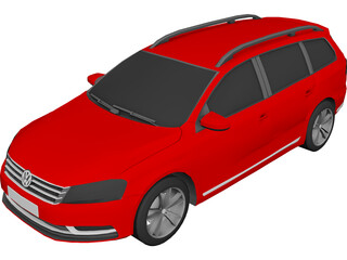 Volkswagen Passat B7 Variant (2012) 3D Model 3D Preview