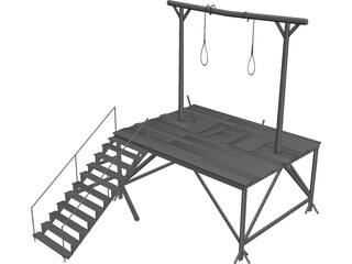 Woodern Gallows 3D Model