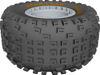 Kenda Bearclaw 25x12.5 Wheel CAD 3D Model