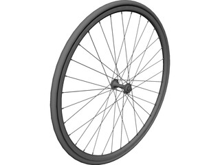 Bike Front Wheel CAD 3D Model