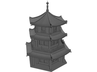 Pagoda 3D Model 3D Preview