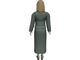 Reception Girl 3D Model