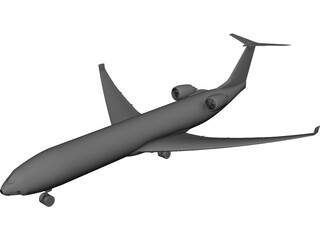 Private Jet CAD 3D Model