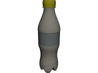 Cola Bottle CAD 3D Model