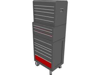 Craftsman Tool Chest CAD 3D Model