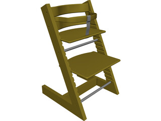 Children Chair CAD 3D Model