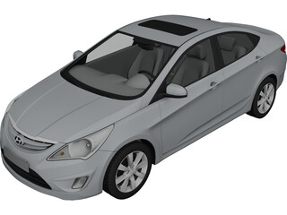 Hyundai Verna (2011) 3D Model