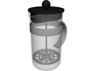 French Press CAD 3D Model