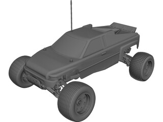 Traxxas Rustler RC Car CAD 3D Model