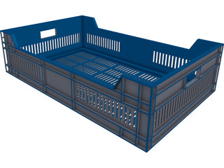 Plastic Rack CAD 3D Model