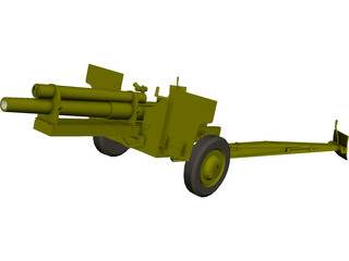 Canadian Howitzer 105mm 3D Model