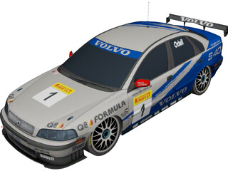 Volvo S40 Rally (2001) 3D Model 3D Preview