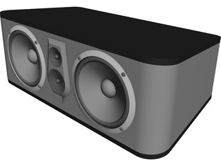 JBL-ES25C Center Speaker CAD 3D Model
