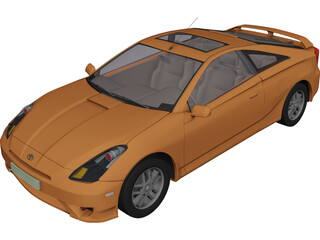 Toyota Celica (2009) 3D Model