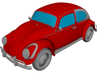 Volkswagen Beetle CAD 3D Model