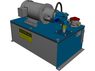 Hydraulic Power Pack 3D Model