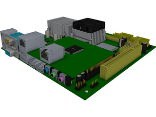 Motherboard Mini ITX CAD 3D Model