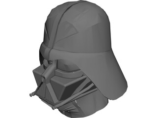Star Wars Darth Vader Mask CAD 3D Model