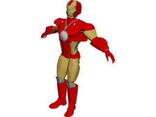 Iron Man 3D Model 3D Preview