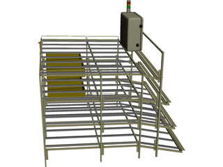 Parts Supply Rack 3D Model