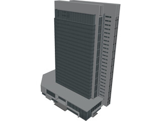 Big Building 3D Model 3D Preview