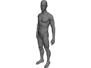 Man Athlete Standing 3D Model