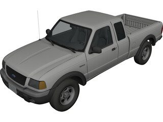 Ford Ranger Pickup 3D Model
