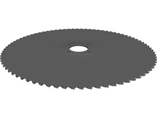 Table Saw Blade 10 inch CAD 3D Model