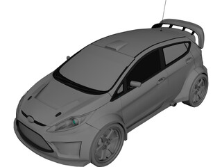 Ford Fiesta Ken Block 3D Model