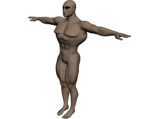 Athlete Big Guy 3D Model