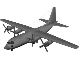 Lockheed C130 Cargo Plane 3D Model 3D Preview