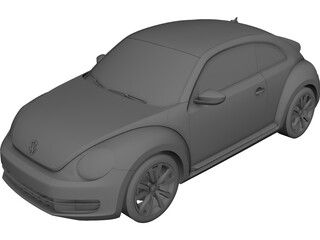 Volkswagen Beetle 2.0 TSi 3D Model
