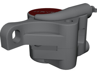 Hayes Disk Brake Caliper CAD 3D Model