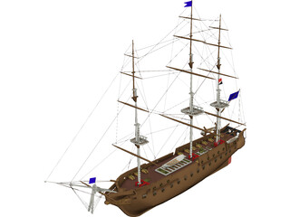 Constitution Ship 3D Model