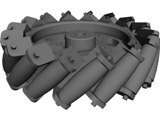 Mecanum Wheel CAD 3D Model