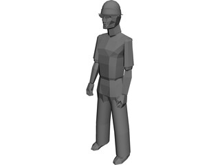 Worker 3D Model 3D Preview