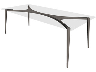 Table Airy Retro 3D Model