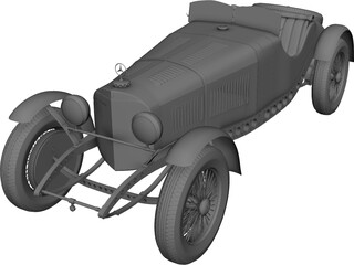 Mercedes-Benz Sport Coupe (1929) 3D Model