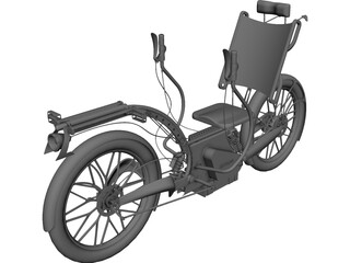 Recumbent Electric Bicycle CAD 3D Model