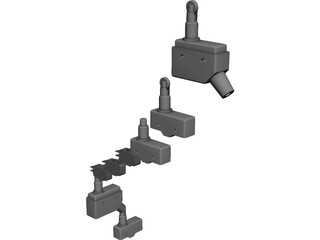 Microswitch Collection CAD 3D Model