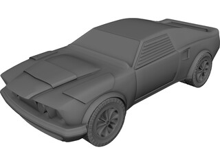 Ford Mustang Eliminator (1969) 3D Model 3D Preview