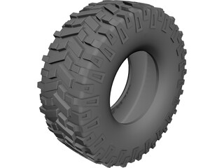 Tire Off Road CAD 3D Model