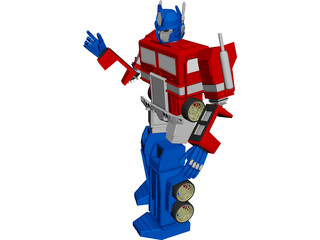 Transformers Optimus Prime 3D Model 3D Preview