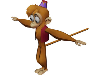 Abu the Monkey 3D Model 3D Preview