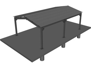 Carport Steeldeck CAD 3D Model