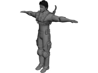 Chris Redfield 3D Model