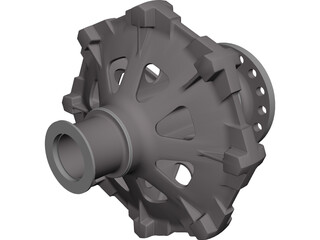 Traction Sheave CAD 3D Model