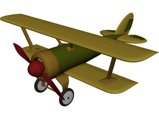 Heinrich Pursuit Fighter 3D Model