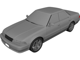 Toyota Mark II (X81) 3D Model