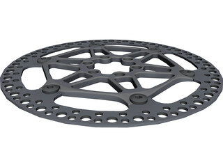 Floating Rotor Disc Brake CAD 3D Model